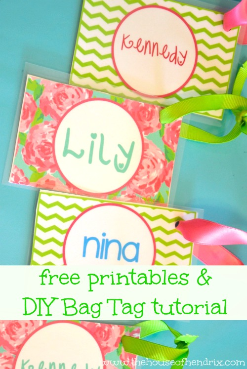 Diy Personalized Bag Tags And Printables For Lunch Box And
